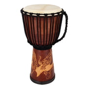 Terre Djembe Carved Dragon 60cm