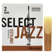DAddario Woodwinds Select Jazz Unfiled Soprano 2H