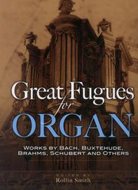 Music Sales Great Fugues for Organ