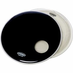 "Evans 22"" Bass Drum Head Set Black"