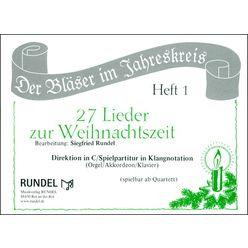 Musikverlag Rundel 27 Lieder Weihnacht Direktion