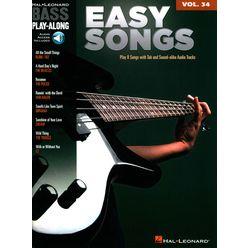 Hal Leonard Bass Play-Along Easy Songs