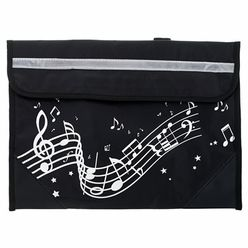 Music Sales Wavy Stave Music Bag Black