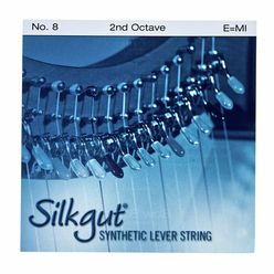 Bow Brand Silkgut 2nd E Harp String No.8