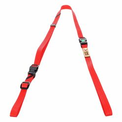 Uke Leash Half Strap Red-Orange Medium