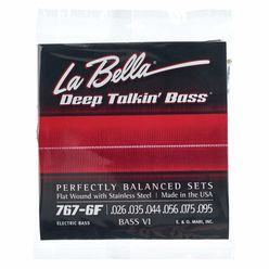 La Bella 767-6F Bass VI Flat