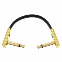 Rockboard Flat Patch Cable Gold 10 cm