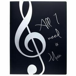 agifty Music Folder Silver