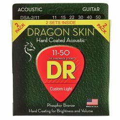 DR Strings Dragon Skin DSA 11-50 2-Pack
