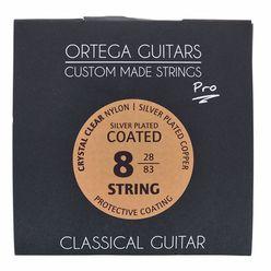 Ortega NYP8 Coated 8-String Nylon