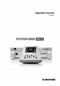 Algorithm Manual
