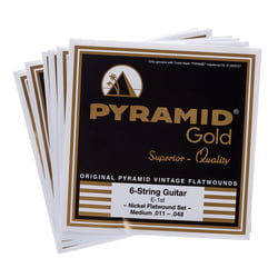 Gold Flatwound 011-048 Pyramid