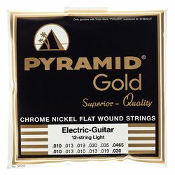 Gold Nickel Flatwound 310/12 Pyramid