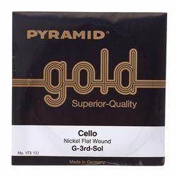 Gold Cello String 4/4 Pyramid