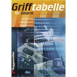 Grifftabelle für Gitarre Voggenreiter