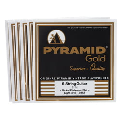 Gold Flatwound 010-0465 Pyramid