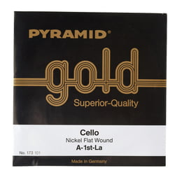 Gold Cello String A Pyramid