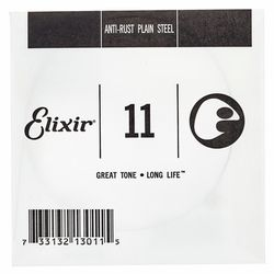 .011 Single String Plain Steel Elixir