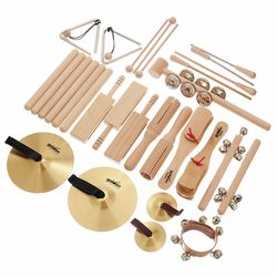 Percussion Set 4 in Wood Box Goldon