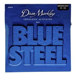 2674 Blue Steel Bass ML Dean Markley