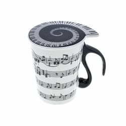 "Cup with Lid ""Staff Lines"" Music Sales"