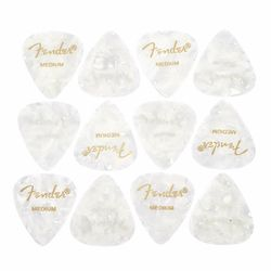 White Pearloid Pick Set M Fender