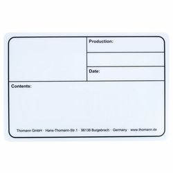 Tourlabel 290x190mm White Stairville