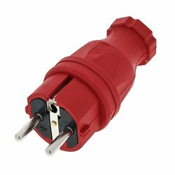 Rubber Safety Plug EU Red PCE