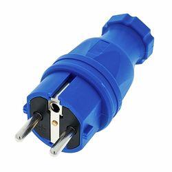 Rubber Safety Plug EU Blue PCE