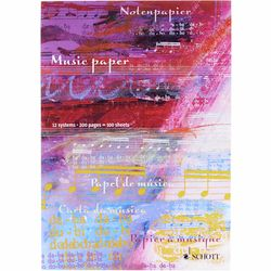 Notenblock Music Paper A4 Schott