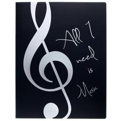 Music Folder ViolinClef Silver agifty