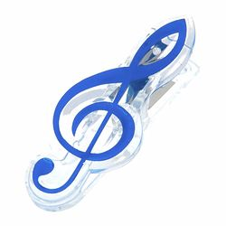 Music Clip Violin Clef Blue A-Gift-Republic