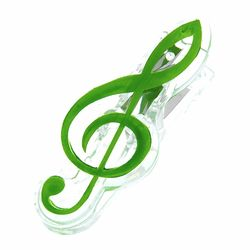 Music Clip Violin Clef Green agifty