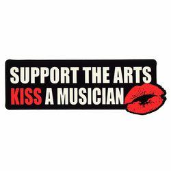 Sticker Kiss A Musician Bandshop