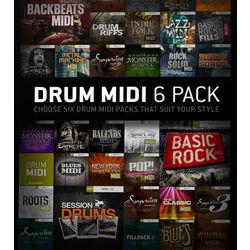 Drum Midi 6 Pack Toontrack