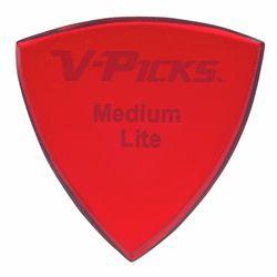 Medium Pointed Lite Ruby Red V-Picks