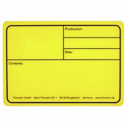Tourlabel 177x127mm Yellow Stairville