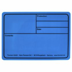 Tourlabel 177x127mm Blue Stairville