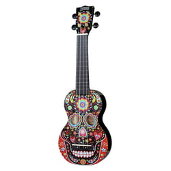 Skull Ukulele Day of the Dead Mahalo