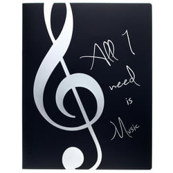 Music Folder Silver agifty