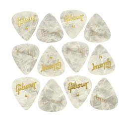 Perloid Picks Medium 12pc Gibson