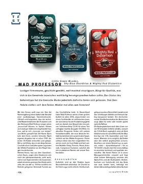 Mad Professor Little Green Wonder, Sky Blue Overdrive & Mighty Red Distortion