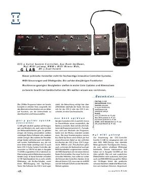 G-Lab GSC-3 Guitar System Controller, Aux Bank Up/Down, M4L MIDI 4xLoop, MWW-1 MIDI Wowee Wah, DR-3 Dual Reverb