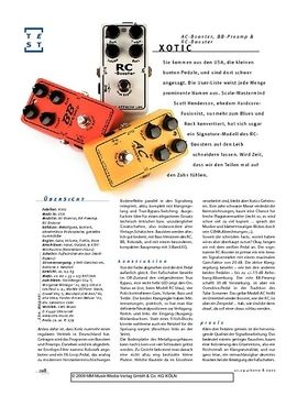 Xotic AC-Booster, RC-Booster, BB-Preamp, FX-Pedals