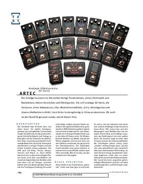 Artec SE-Serie, analoge Effektpedale