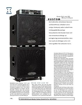 Kustom Deep End 200 HD, DE115 & DE410, Bassanlage