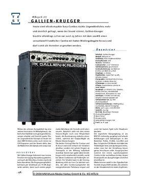 Gallien-Krueger MB150S-III, Bass-Combo