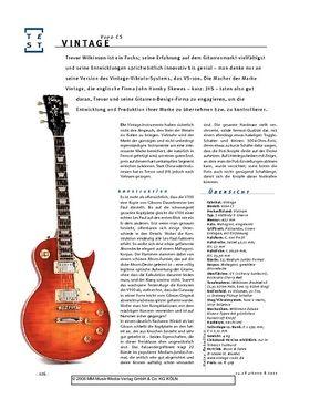 Vintage V100 CS, E-Gitarre
