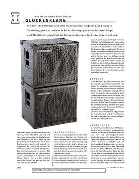 Glockenklang Uno Rock Deluxe & Uno Deluxe, Bass-Boxen