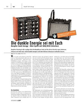 Doepfer Dark Energy - Mini-Synth mit USB/MIDI-Interface